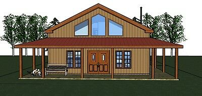 Eric's Cabin  1699 heated sq. ft.  home 3 bed room, 2 bath, wrap porch