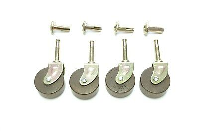 "4 Lot Casters Furniture Casters Wood Caster  Antique Style Casters 1 5/8"" Dia."