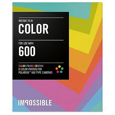 Impossible PRD2959 Color Film for Polaroid 600-Type Camera Frame, New