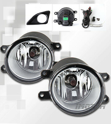 08-10 Toyota Corolla Crystal Clear Lens Fog Light w/Wire and switch Pair New