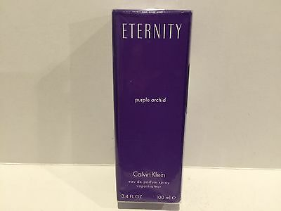 Eternity Purple Orchid 3.4 oz Eau de Parfum Spray New In Box Hard To Find (RARE)