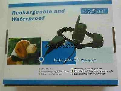 Rechargeable LCD Electric Shock Remote collar Waterproof dog training anti-bark