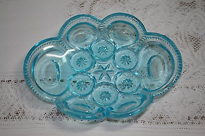 """LG Wright Moon and Star 8"""" Oval Relish Electric Blue"""