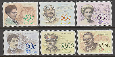 New Zealand. Stamps. Sc. #  987 - 92. New Zealand Heritage. The Achievers.   MNH