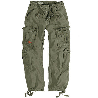 acac6065c17a5b Surplus Mens Combats Trousers Work Wear Army Cargo Pants Vintage Olive ...