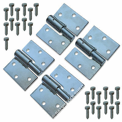 Steel Gate Hinge Heavy Duty Ball Bearing Hinges with Screws Left & Right
