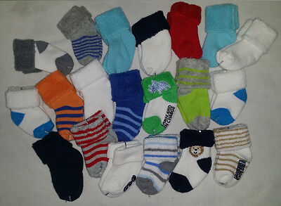 BABY SOCKS Lot 18 Pair carters Baby Boy Socks - Size 0-6 Months (0-3 3-6 mo.) Z1
