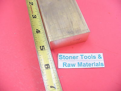 "1"" x 2"" C360 BRASS FLAT BAR 5"" long Solid 1.00"" Plate Mill Stock H02"