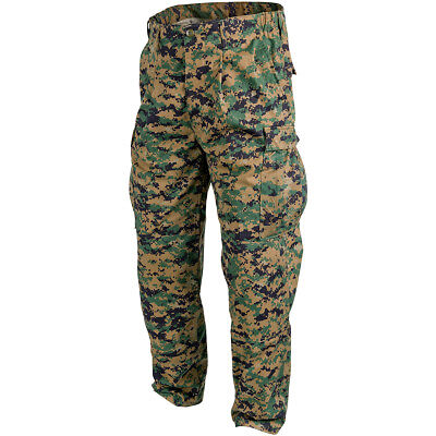 USMC US Marines Trousers Helikon Army Military Mens Pants Digital Woodland Camo