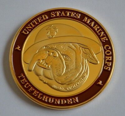 US Medal/Badge/Order US Marine, Teufelhunden Military Challenge Coin, Scarce!!!