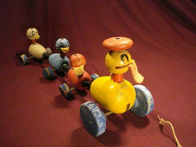 Vtg Fisher Price Quacky Family Pull Toy 1946 to Easter 1948 #799 FPT4415 RARE