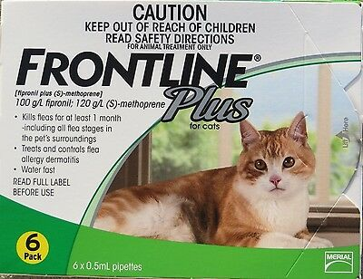 Frontline Plus for Cats Green Box-6 month  FREE SHIPPING!!