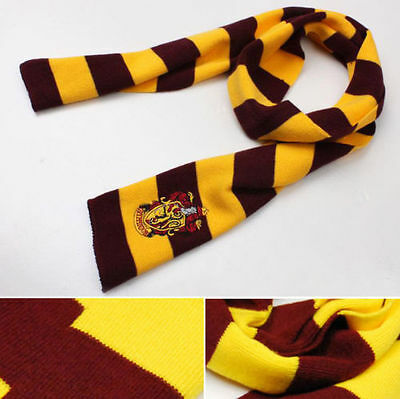 Harry Potter Gryffindor House LOGO Knit Wool Scarf Wrap Cosplay Costume FreeShip