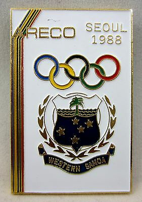 1988 SEOUL OLYMPIC PIN NOC  WESTERN SAMOA OLYMPIC COMMITTEE,LIMITED TO 1000,RARE