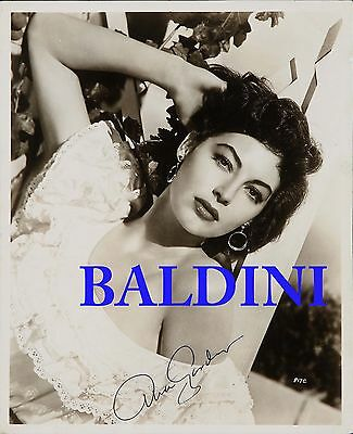 Ava Gardner Signed 10X8 Photo,  Great Film Still Image, Looks Great Framed