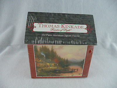 Thomas Kinkade The End of a Perfect Day Miniature Jigsaw Puzzle 100 Piece 1515-1