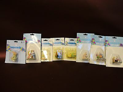 Vintage Leewards Minature Figurines Lot of 8 w/ Packaging