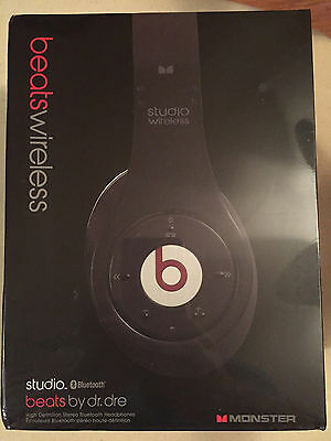 Beats By Dre Studio Wireless Headphones. Black. New In The Box