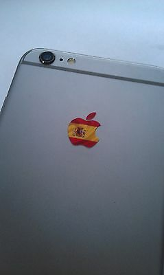 Spain / Spanish Flag Logo Decal Sticker for iPhone 4/4S/5/5S/6/6S/7 Plus