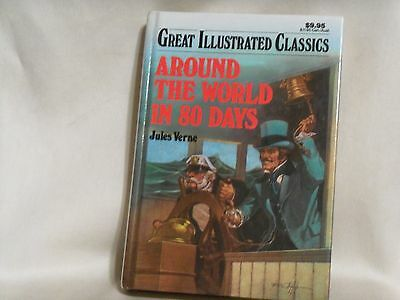 Around The World in 80 Days Great Illustrated Classics  Jules Verne Hardcover