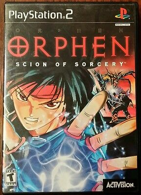 PLAYSTATION 2 ORPHEN SCION OF SORCERY RARE PS2  GAME COMPLETE