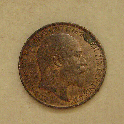 Bronze Halfpenny 1903 Coin King Edward Vii Good Extremely Fine Grade