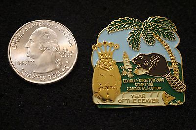Royal Order Of Jesters Sarasota Director 2004 Year Of The Beaver Lapel Pin #3273