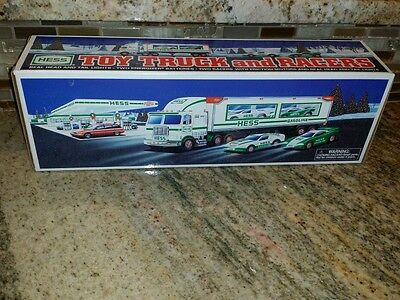 "1997 Hess ""truck And Racers ""  -New In Box!"
