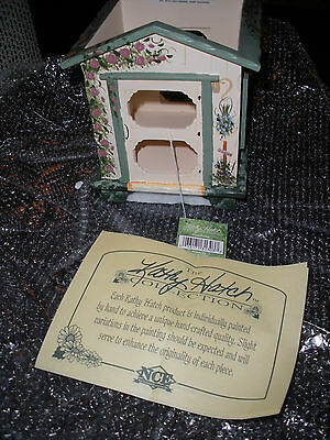 "Kathy Hatch ""In The Garden"" Collection Hand Painted Bird House #31303"