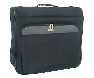 "46"" Black Large Heavy Duty Deluxe Business Travel Hanging Garment Bag New"