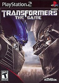 COMPLETE Transformers: The Game  ( PS2, 2007) DISC, CASE, MANUAL ~ BLACK LABEL