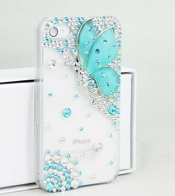 """HOT New Crystal Deluxe Butterfly Diamond For apple iPhone 6 4.7"""" hard Case Cover"""