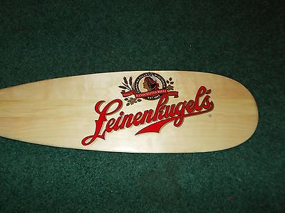 "LEINENKUGEL Beer Sign Canoe Paddle- 2-sided 48"" Join Us Out Here!"