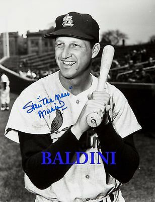 Stan Musial Signed 10X8 Photo,  Great Studio Shot Image, Looks Great Framed