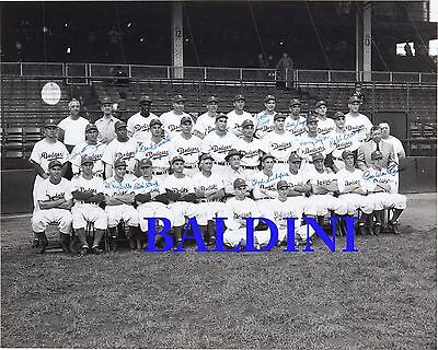 Brooklyn Dodgers Signed 10X8 Photo - Great Collectable - Dont Miss Out