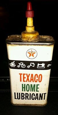 Vintage Texaco Home Lubricant can FREE SHIPPING