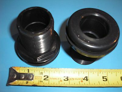 "1"" Bulkhead Fitting Slip x Slip - High Quality Black PVC"