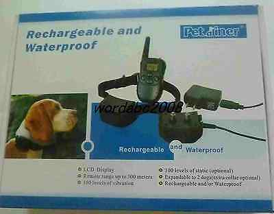Rechargeable&Waterproof LCD Shock & Vibrate Remote Dog Training Collar for 1 Dog