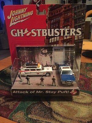Johnny Lightning Ghostbusters Attack of Mr. Stay Puft! Ecto 1A Car RARE MIB