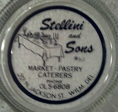 STELLINI AND SONS MARKET PASTRY CATERERS WILMINGTON DELAWARE ANTIQUE ASHTRAY