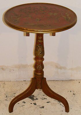 GOOD QUALITY ANTIQUE CHINOISERIE DECORATED WINE OR OCCASIONAL TABLE