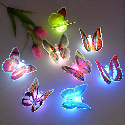 New Lovely 1x 7 Color Changing Beautiful Butterfly LED Night Light Lamp
