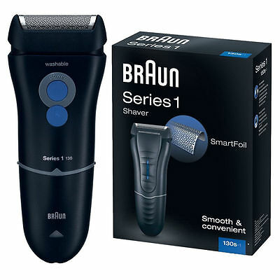 Braun 130S-1 Series 1 Mens Electric Mains Washable SmartFoill Shaver Trimmer New