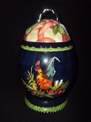 TRACY PORTER STONEHOUSE FARM COLLECTION LARGE ROOSTER CANISTER
