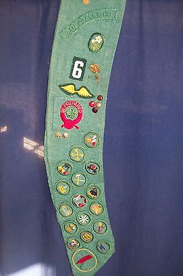 Vintage Girl Scout Sash - Loaded with Badges - VERY OLD - MUST SEE!!