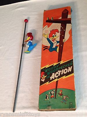 "video VINTAGE 1950's Woody Woodpecker ""In Action"" Toy - W/ BOX - Walter Lantz"
