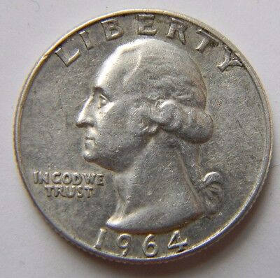 1964-D Washington  Quarter from 90% Silver Set Lot Combined Shipping Discount