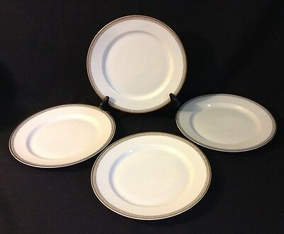 H & Co Selb Babaria Imperial Set Of 4 Salad Plates - Circa 1911