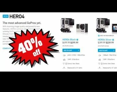 GoPro HERO4 BLACK SILVER 40% off GET NEWEST GOPRO FOR $300  (LAST ONE!)