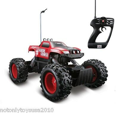 Remote Control RC Maisto Tri-Band Off-Road Rock Crawler Monster Truck -Red